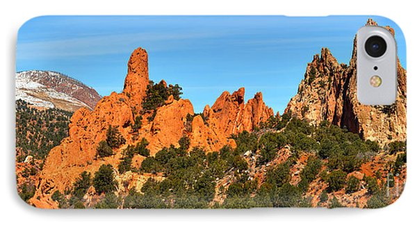 IPhone Case featuring the photograph Colorado Springs Garden Of The Gods High Point Panorama by Adam Jewell