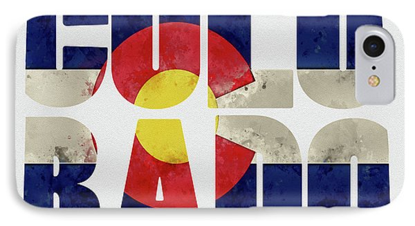 Colorado Typography Map Flag IPhone Case by Kevin O'Hare