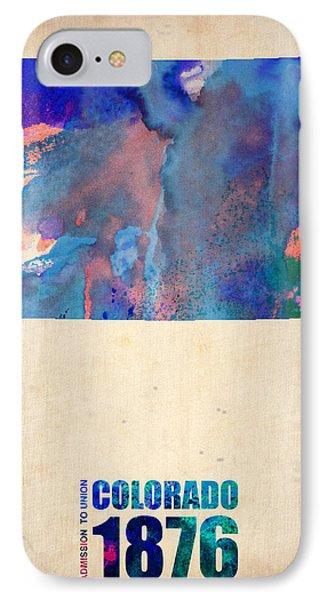 Colorado Watercolor Map IPhone Case by Naxart Studio