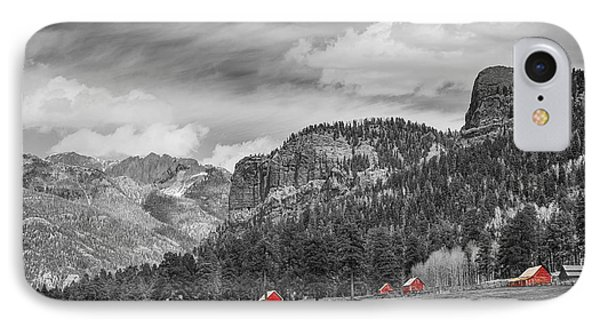 Colorado Western Landscape Red Barns IPhone Case