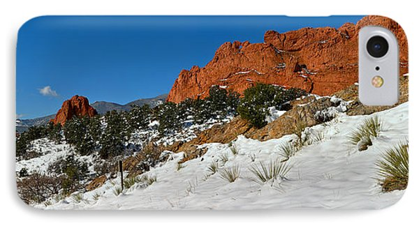 IPhone Case featuring the photograph Colorado Winter Red Rock Garden by Adam Jewell
