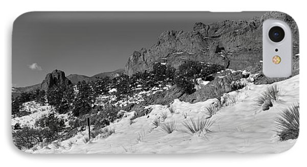 IPhone Case featuring the photograph Colorado Winter Rock Garden Black And White by Adam Jewell