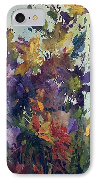 IPhone Case featuring the painting Colorburst by Helen Harris