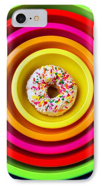 Colored Bowls And Donut IPhone Case by Garry Gay