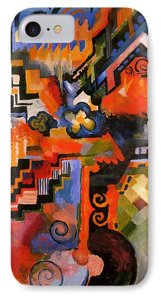Colored Composition IPhone Case by August Macke