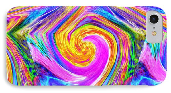 Colored Lines And Curls IPhone Case by Jeff Swan