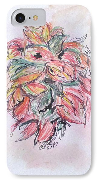 Colored Pencil Flowers IPhone Case by Clyde J Kell