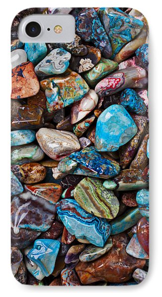 Colored Polished Stones IPhone Case by Garry Gay