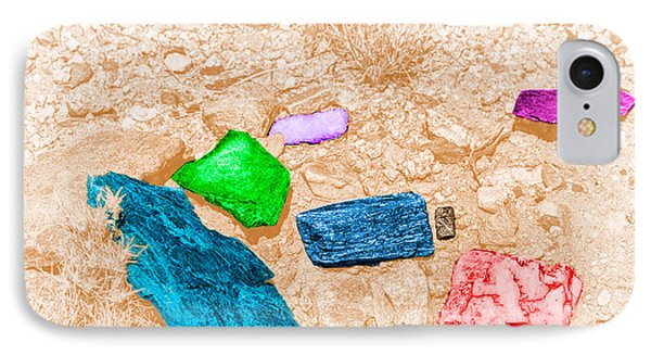 IPhone Case featuring the digital art Colored Rocks 1 by Bartz Johnson