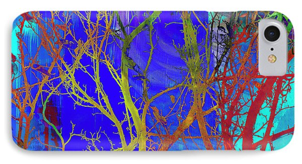 IPhone Case featuring the photograph Colored Tree Branches by Susan Stone