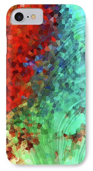 Colorful Abstract Art - Rejoice - Sharon Cummings IPhone Case
