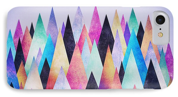 Colorful Abstract Geometric Triangle Peak Woods  IPhone Case by Philipp Rietz