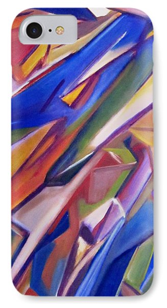IPhone Case featuring the painting Colorful Abstract by Patricia Cleasby