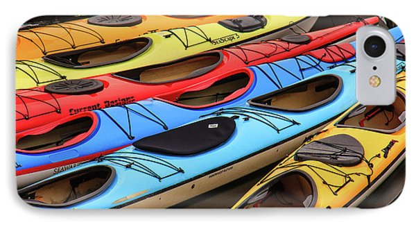 Colorful Alaska Kayaks IPhone Case