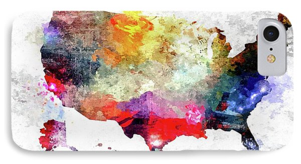 Colorful America Map IPhone Case