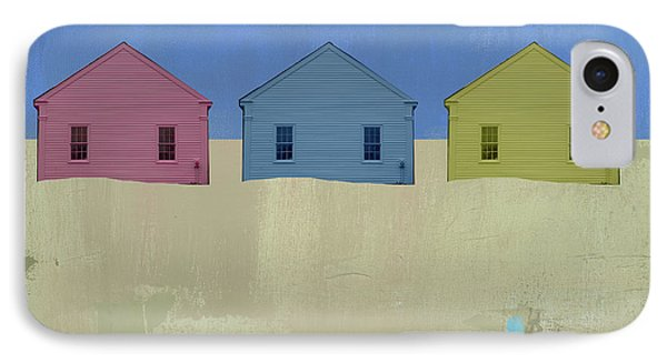 Colorful Beach Cottage IPhone Case by Jacquie Gouveia