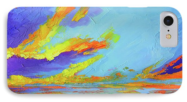 Colorful Beach Sunset Oil Painting  IPhone Case