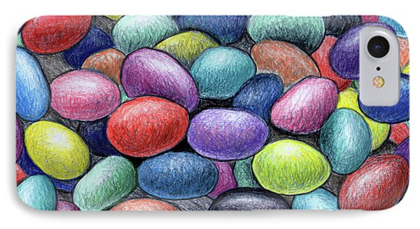 Colorful Beans IPhone Case by Nancy Mueller