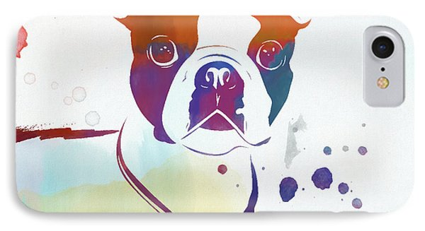 Colorful Boston Terrier IPhone Case by Dan Sproul