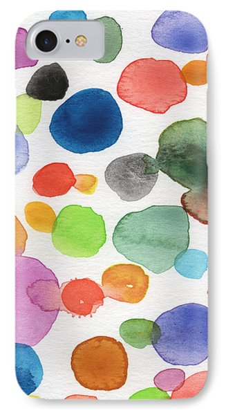 Colorful Bubbles IPhone Case by Linda Woods
