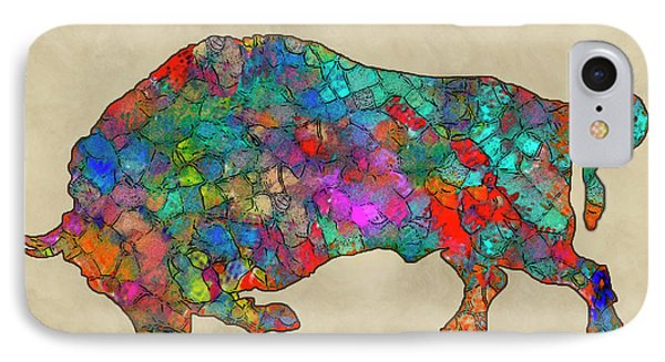 Colorful Buffalo IPhone Case