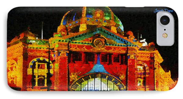 Colorful Building At Night - Pa IPhone Case by Leonardo Digenio