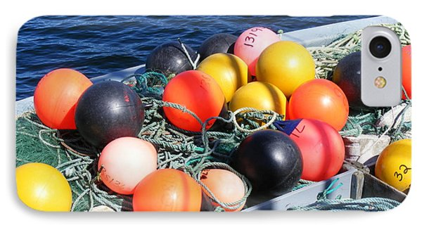 IPhone Case featuring the photograph Colorful Buoys by Barbara Griffin