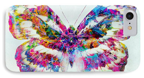 Colorful Butterfly Art IPhone Case by Olga Hamilton
