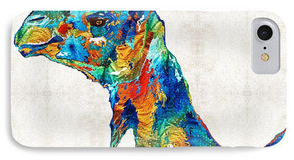 Colorful Camel Art By Sharon Cummings IPhone Case by Sharon Cummings
