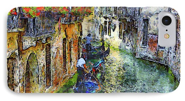 Colorful Canal In Venice IPhone Case by Georgiana Romanovna