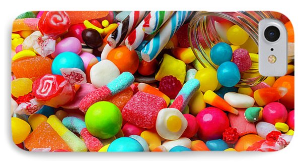 Colorful Candy Pile IPhone Case by Garry Gay