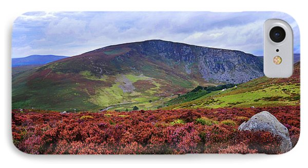 IPhone Case featuring the photograph Colorful Carpet Of Wicklow Hills by Jenny Rainbow