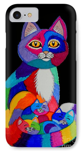 Colorful Cats And Kittens IPhone Case by Nick Gustafson