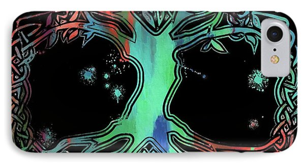 Colorful Celtic Tree Of Life IPhone Case by Dan Sproul