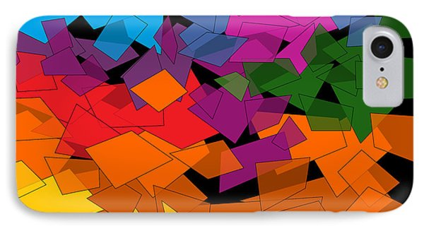 Colorful Chaos Two IPhone Case by Val Arie