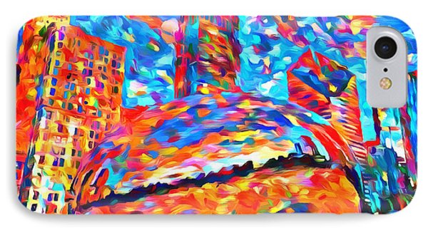 Colorful Chicago Bean IPhone Case by Dan Sproul