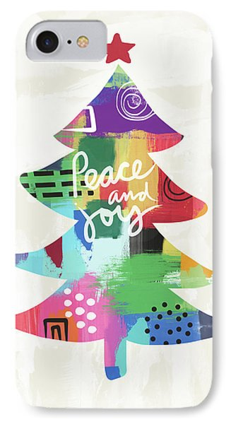 Colorful Christmas Tree- Art By Linda Woods IPhone Case by Linda Woods
