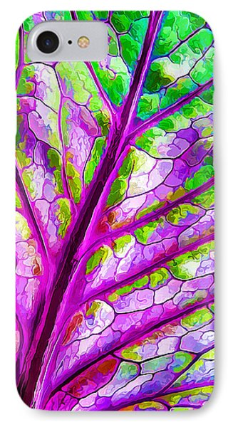 Colorful Coleus Abstract 1 IPhone Case by ABeautifulSky Photography