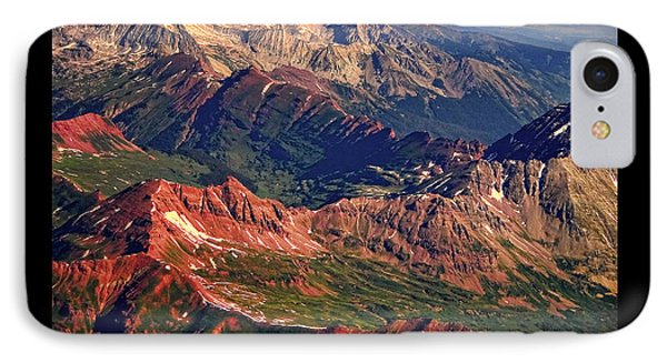 Colorful Colorado Rocky Mountains Planet Art Poster  IPhone Case by James BO  Insogna