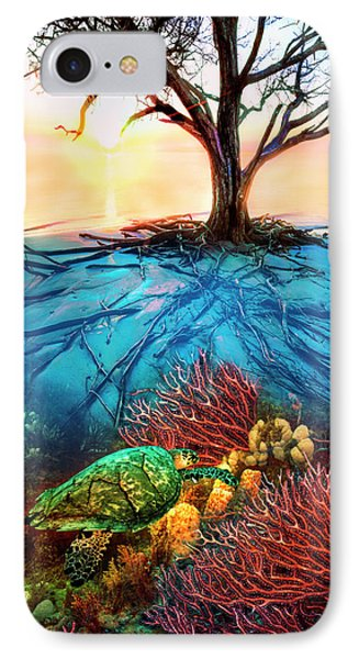 IPhone Case featuring the photograph Colorful Coral Seas by Debra and Dave Vanderlaan