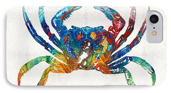 Colorful Crab Art By Sharon Cummings IPhone Case