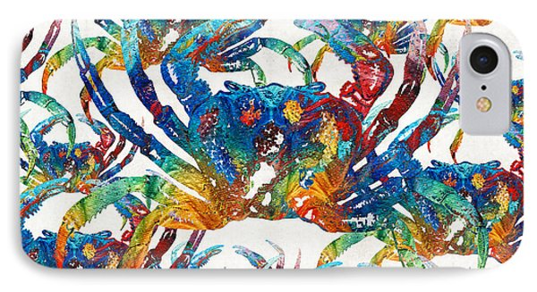 Colorful Crab Collage Art By Sharon Cummings IPhone Case