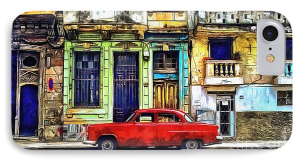 IPhone Case featuring the painting Colorful Cuba by Edward Fielding