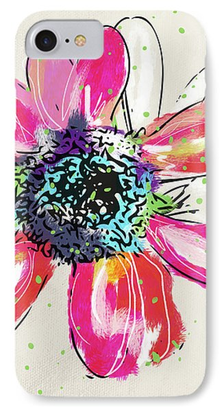 IPhone Case featuring the mixed media Colorful Daisy- Art By Linda Woods by Linda Woods