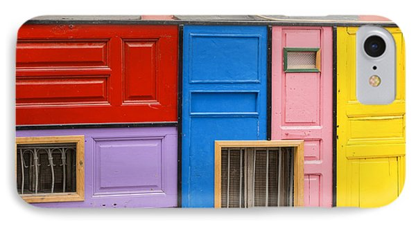 Colorful Doors IPhone Case by Bob Phillips
