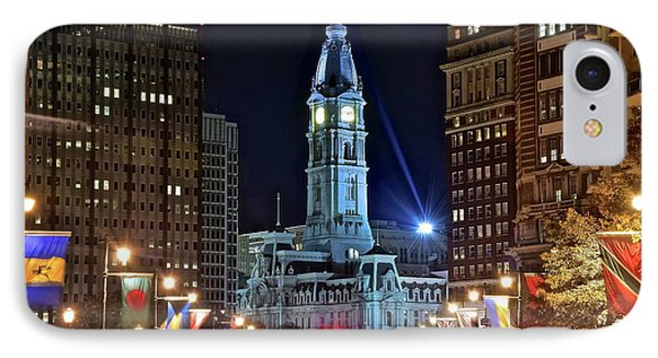Colorful Downtown Philly 2016 IPhone Case by Frozen in Time Fine Art Photography