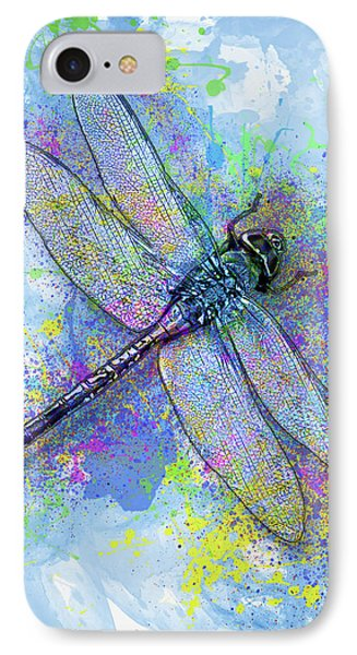 Colorful Dragonfly IPhone Case by Jack Zulli