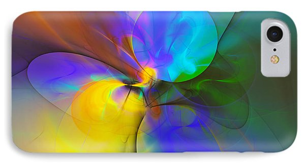 Colorful Dreams Within Chaos  IPhone Case by Georgiana Romanovna