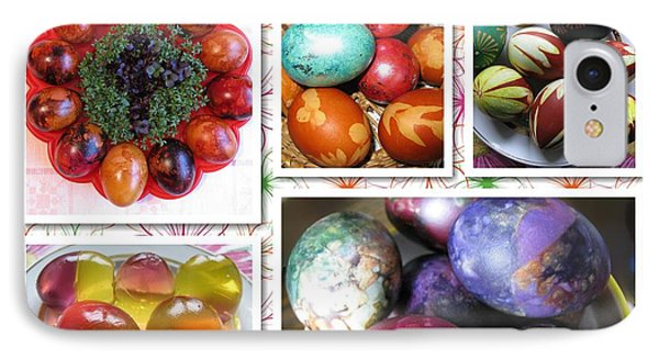 IPhone Case featuring the photograph Colorful Easter Eggs Collage 07 by Ausra Huntington nee Paulauskaite