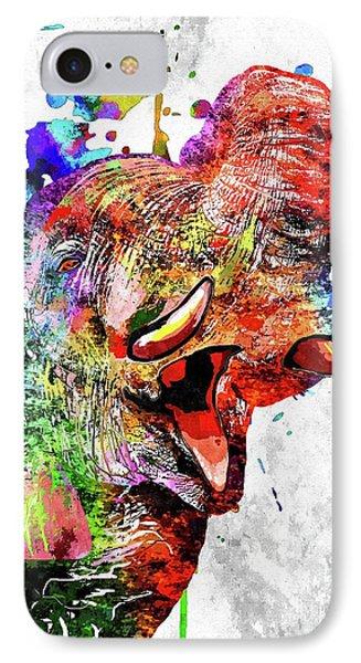 Colorful Elephant Phone Case by Daniel Janda